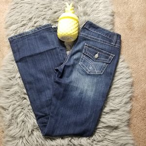 INC DENIM BOOT CUT SIZE 4, VERY GOOD CONDITION